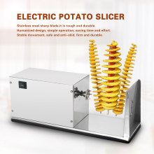 GZZT Vegetable Fruit Slicer Machine Stainless Steel Spiral Potato Machine Automatic Tornado Potato Slicer Cutter Kitchen Tools
