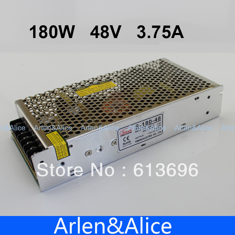 180W 48V 3.75A Single Output Switching power supply for LED Strip light AC to DC