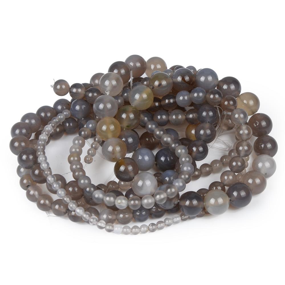 Grey Magic Crystal Stone Beads Women Jewelry Fashion Making Beads 4 6 8 10 12mm