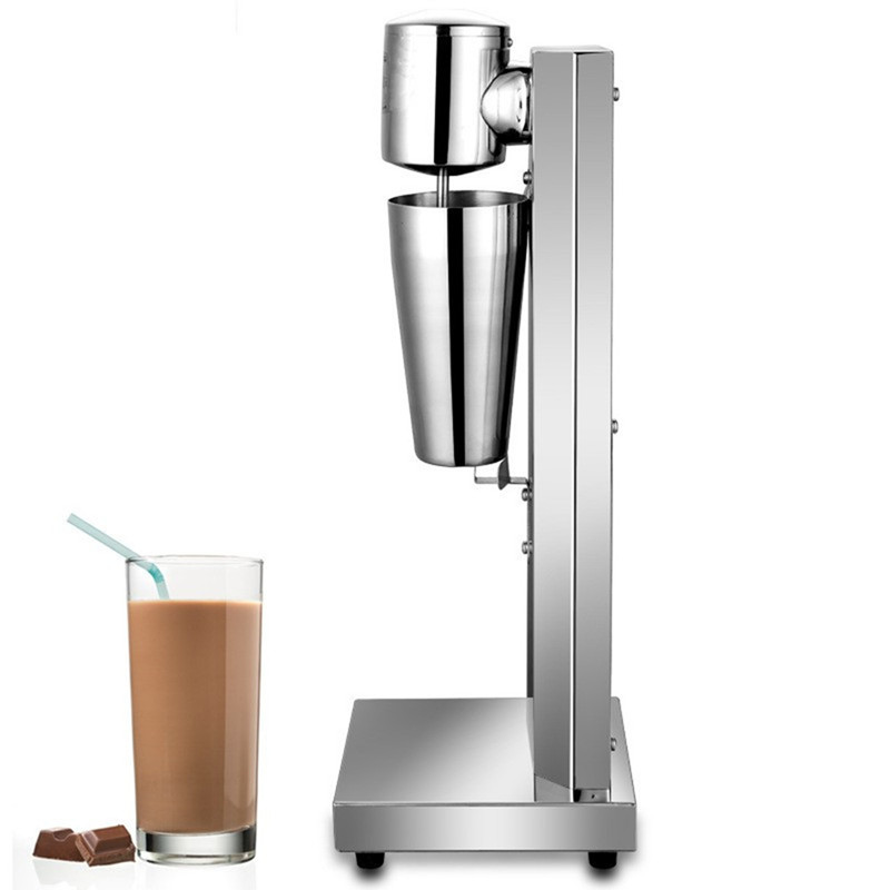 ФОТО Milkshake machine stainless steel  milk shake machine mixer shaker blender milk foam maker