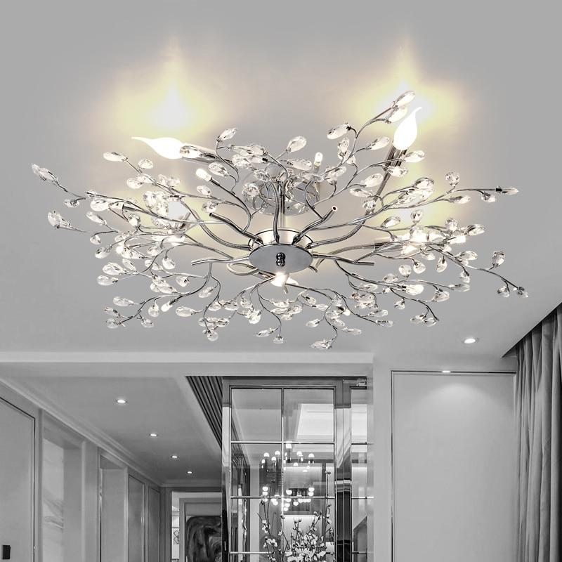 Luces De Techo Plafonnier lámpara Led Lamparas De Techo iluminación De habitación para niños lámpara De pie suspensión Lustre Cristal