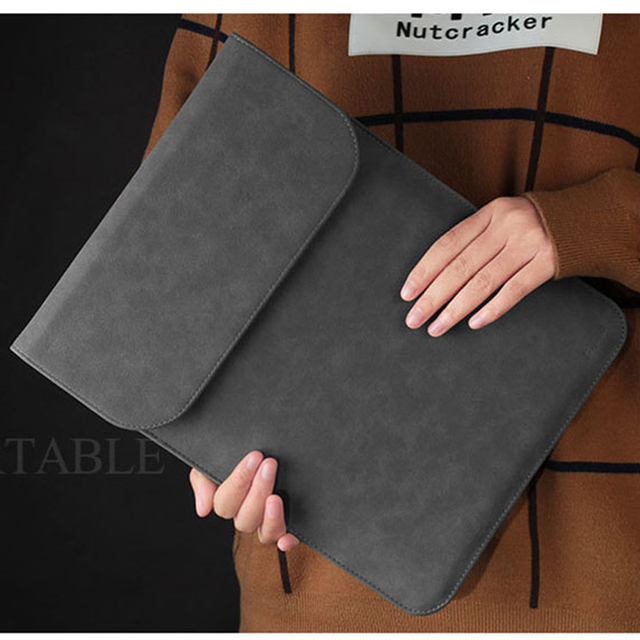 PU Leather Laptop Sleeve Bag For Macbook Air Pro Retina 11 12 13 Mac book 15 touch bar 2018 Case For Xiaomi 15.6 Women Men Cover