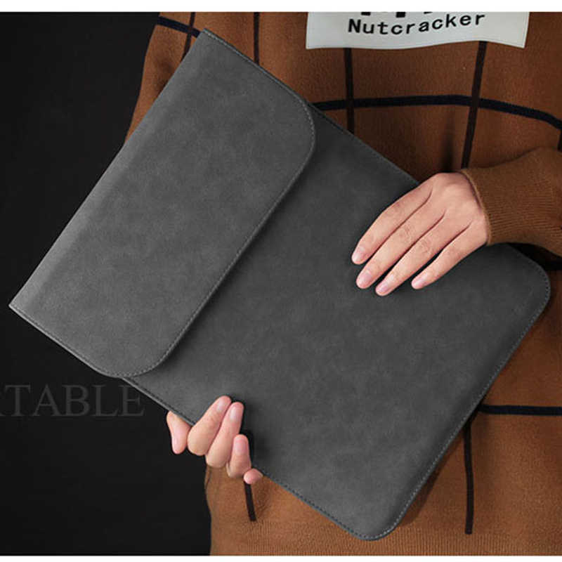 PU Lederen Laptop Sleeve Tas Voor Macbook Air Pro Retina 11 12 13 Mac boek 15 touch bar 2018 Case voor Xiaomi 15.6 Vrouwen Mannen Cover