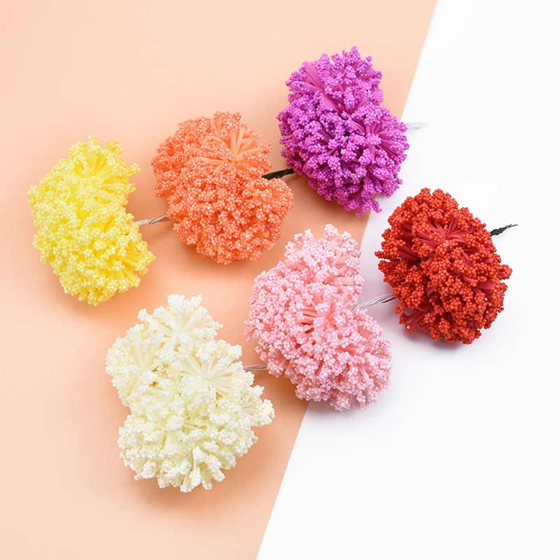 12 pçs casamento casa decoração pe lavanda casa acessórios de decoração flores para scrapbook diy caixa presentes guirlanda flores artificiais