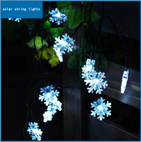 20 LED luminaria colorful Snow lamp Solar Powered christmas Solar Led String Light led solar light outdoor decoration 1pcs/lot