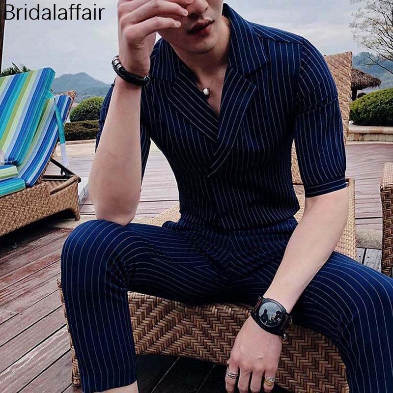 Slim Rayures Usure Bleu veste Manches Imprimé Bal Hommes De Noir À marine 2 Smoking Courtes Pantalon Formelle Kuson Costumes 2018 Costume Tailored Pcs Fit ardoisé YZqqCwd