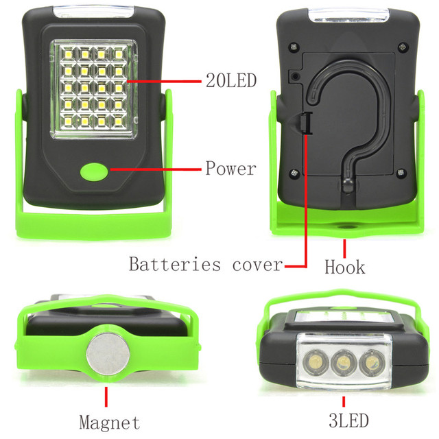 Led Night Light Flashlight Led Torch Lantern Work Light 23 Portable