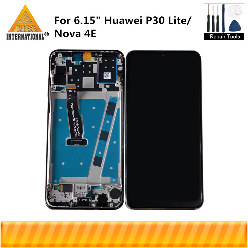 Original Axisinternational For 6.15 Huawei P30 Lite Nova 4E LCD Display Screen Frame+Touch Screen Digitizer MAR-LX1M MAR-LX2Original Axisinternational For 6.15 Huawei P30 Lite Nova 4E LCD Display Screen Frame+Touch Screen Digitizer MAR-LX1M MAR-LX2
