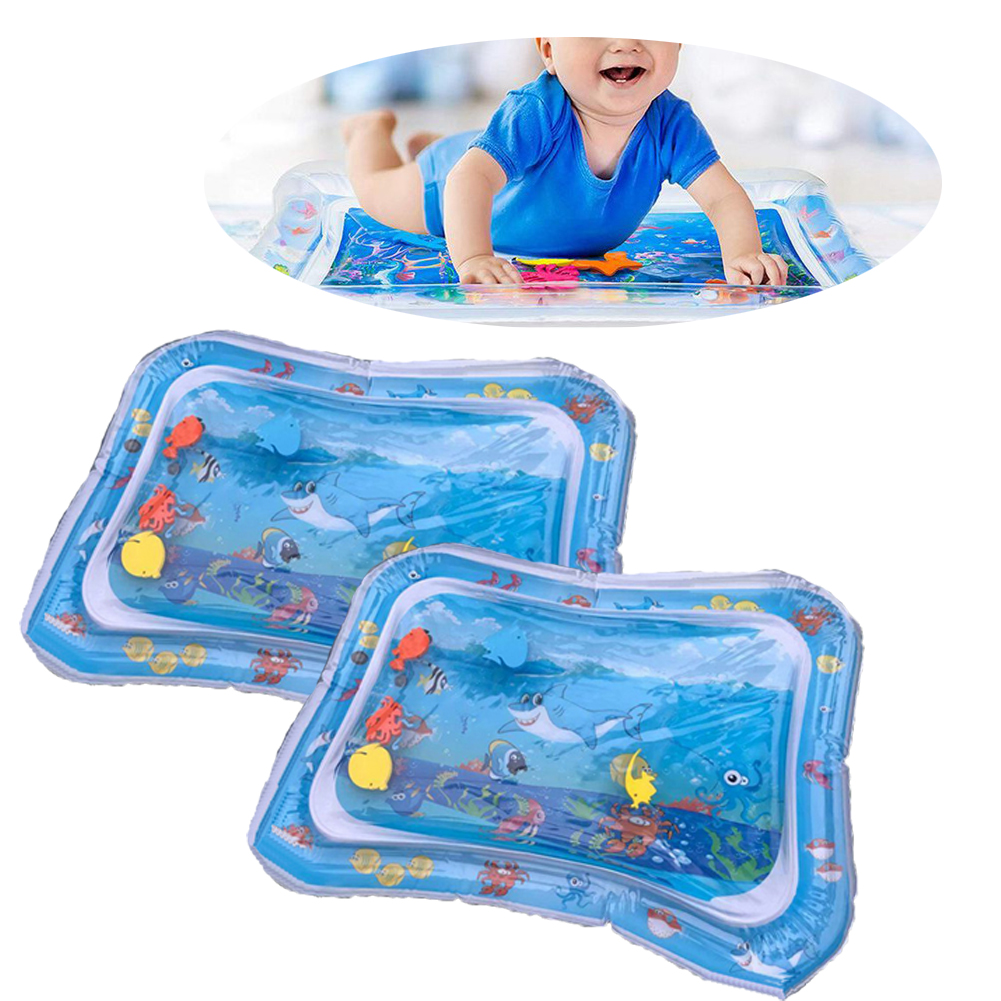 Toy Mattress Water-Mat Shark-Style Inflatable Fun For Kids Baby 1PC Cushion Play-Pad