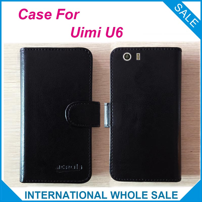 Hot! 2016 Uimi U6 Case,6 Colors High Quality Leather Exclusive Case For Uimi U6 Cover Phone Tracking