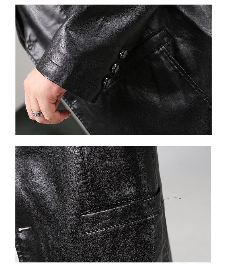 Image 5 - LONMMY 6XL 7XL 8XL кожаный пиджак мужской блейзер мужские куртки и пальто смокинг костюмы мужская верхняя одежда 2019 jaqueta хаки черный-in Пальто из искусственной кожи from Мужская одежда on AliExpress