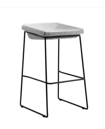 Nordic bar chair modern simple household iron art industrial style coffee restaurant mobile phone shop stool bar stool