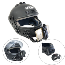 Регулируемый шлем для сотового телефона изогнутый клей передняя сторона крепление для Gopro Hero 7 6 5 4 3+ Xiaomi Yi 4 K Аксессуары для экшн-камеры