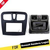 LONGSHI 2 Din Car Stereo Radio For 2015 2016 2017 2018 Renault Sandero Logan Installation Kit DVD Frame Panel Plate Fascia Pan