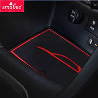 smabee Gate slot pad for For Hyundai I30 I30 N 2017-2018 Interior Accessories Mat Cup Door groove matr white/blue/red
