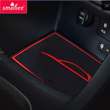 smabee Gate slot pad for For Hyundai I30 N 2017-2018 Interior Accessories Mat Cup Door groove matr white/blue/red