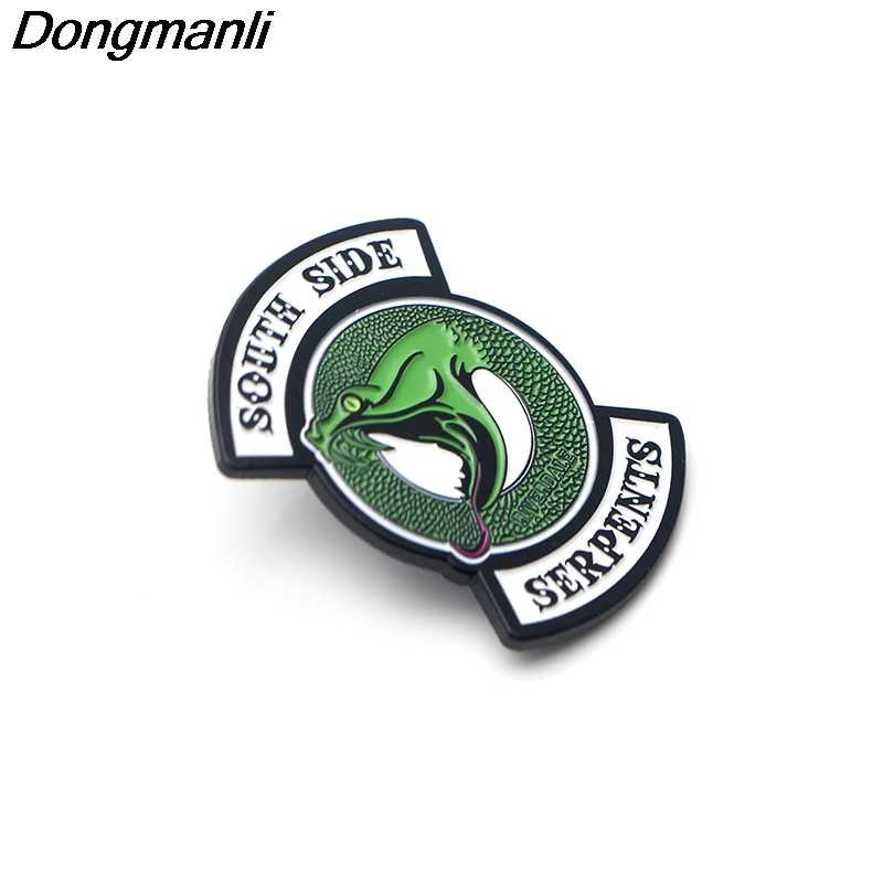 P3515 Dongmanli RIVERDALE South Side Serpants Snake Enamel Pins and Brooches for Women Men Lapel pin backpack bags badge Gifts