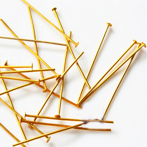 frete gratis acessorios de moda joias 500 pcs saco 40 milimetros pinos bola de ouro