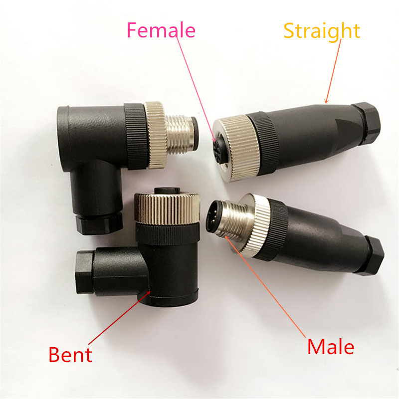 1PCS YT2216B M12 waterproof aviation plug female/male 5PIN sensor encoder connector straight/bent  screw fixation  non-welding gx30 5 30mm dia 5pin male eletrical deck cable connector aviation plug