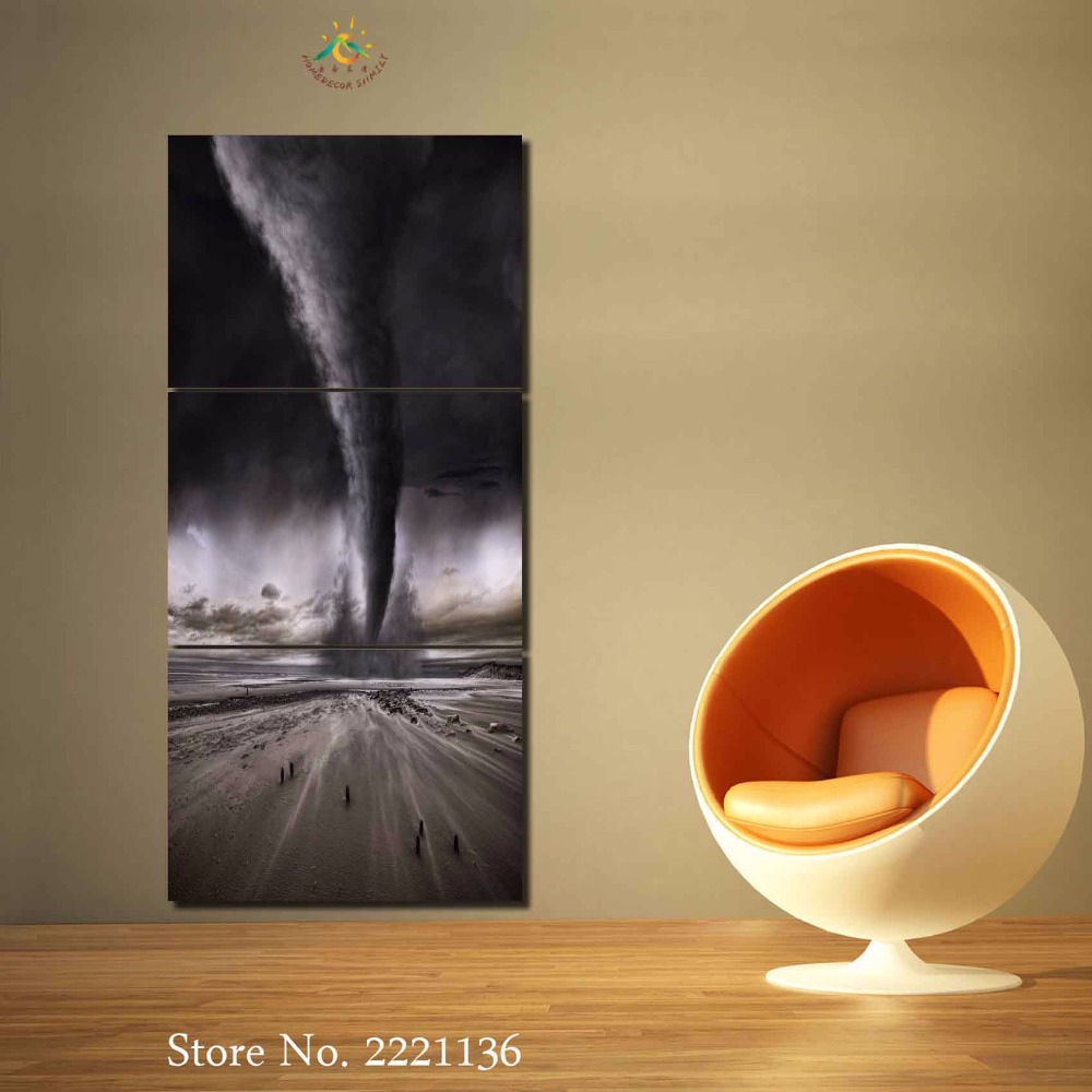 √3-4-5 Pieces Hurricane Modern Home Wall Decor Painting Canvas Art ...