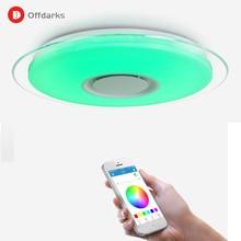 Modern LED ceiling light APP control RGB dimming bedroom living room kitchen children's room lamp ceiling lamp Bluetooth speaker цены