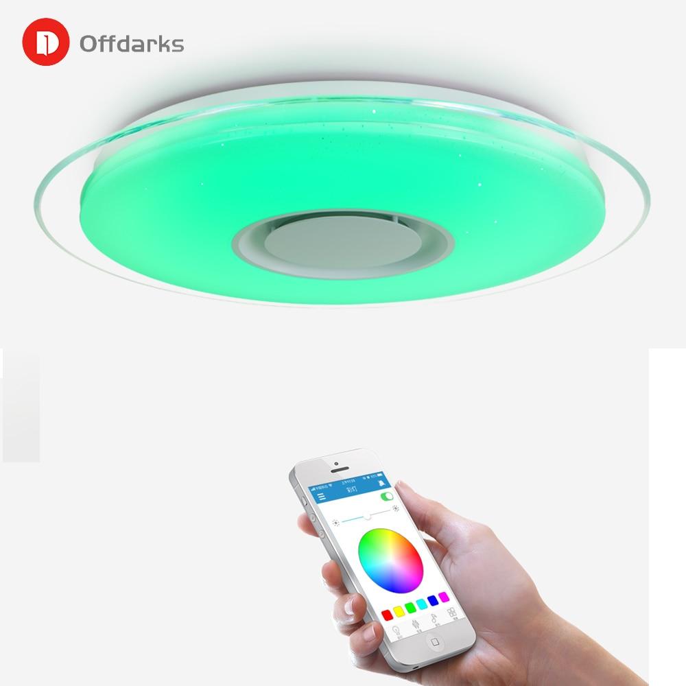 Moderno luz de teto CONDUZIDA RGB controle APP escurecimento quarto cozinha sala de estar lâmpada do quarto das crianças lâmpada do teto speaker Bluetooth