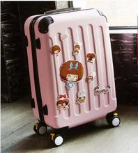 Brand 20 inch 22 24 inch Women Travel Luggage Suitcase Boarding Case rolling luggage Case Spinner Trolley Suitcase wheeled Case