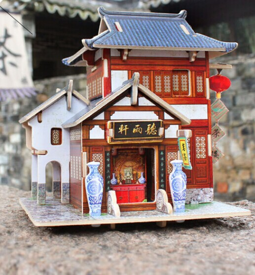 Toys For Restaurants : Diy toys d three dimensional chinese restaurant wood