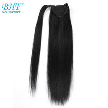 BHF Straight Ponytail Human Hair All Colors European Remy Human Hair Ponytail Extensions Tail of Human Hair Natural Ponytails(China)