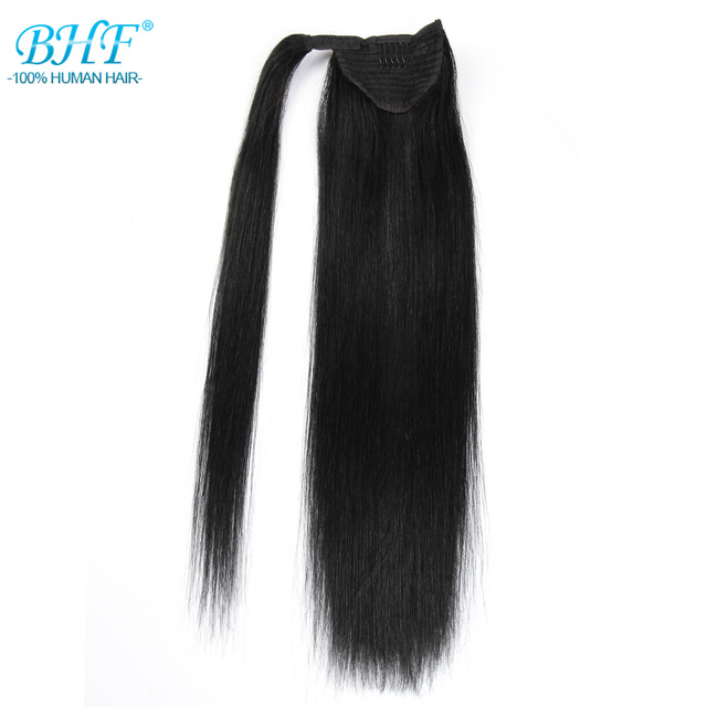 Bhf Straight Ponytail Human Hair All Colors European Remy Human Hair