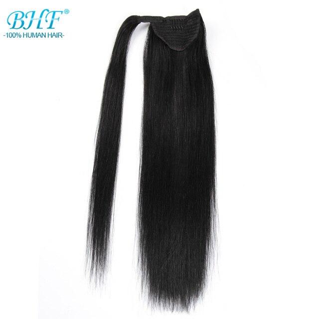 Bhf прямые прическа «конский хвост» все цвета европейские Remy человеческие волосы конский хвост для наращивания хвост человеческих волос Натуральные хвосты