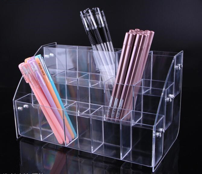 Fashion acrylic Cosmetic Brush Eyeshadow Pencil Pen Lipstick Display Stand Rack Support Organizer Holder For Desk Office Supplie in Storage Holders Racks from Home Garden