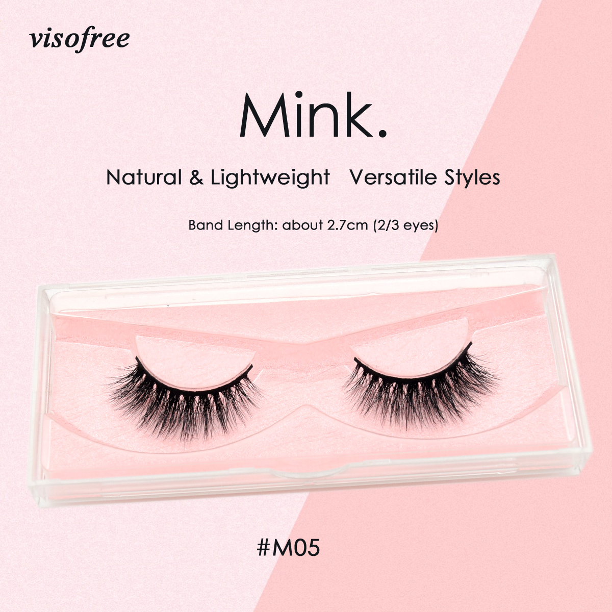 Visofree Lashes 3D Mink Lashes Cruelty Free Mink False Eyelashes Crisscross Handmade Mink Eyelashes For Makeup Faux Cils M05