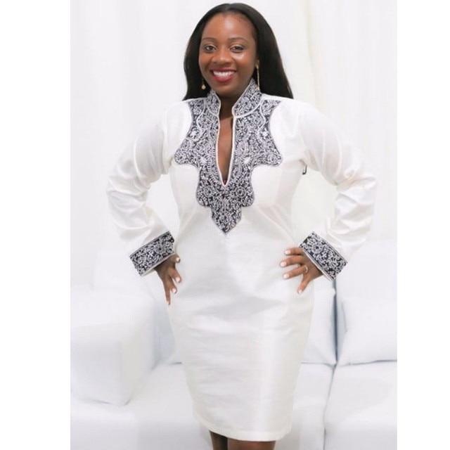97033b66485 BAIBAZIN African clothing African traditional woman white dress Traditional  printing African dashiki riche bazin dress
