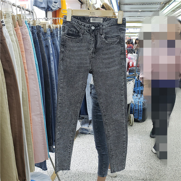 Analytical 2019 Spring Jean Womens Heavy Industry Hot Drill Jeans Pants Ladies High-waisted Nine Denim Trousers Students Slim Pencil Pants Bottoms Women's Clothing