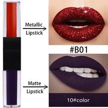 Private label lip gloss blank spot no LOGO double lip gloss a pearly matte lip gloss lasting non-stick cup lip glaze фото