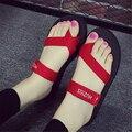 Летняя Мода Мужчины И Женщины Тапочки Вьетнамки Сандалии Квартира с Обувь Модные Простые Случайные Любители Сандалии
