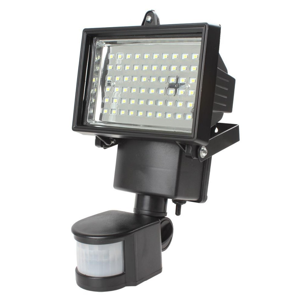 10set solar panel led flood security solar garden light pir solar at night simply leave the light in auto position and the motion sensor will turn on the light when motion is detected aloadofball Images