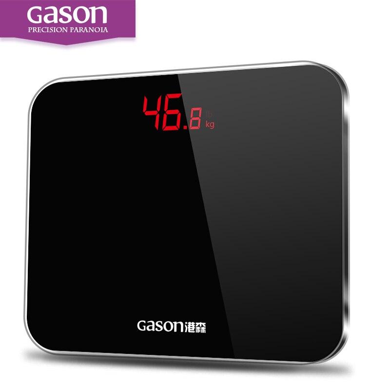 GASON A3 Bagno Corpo Bilance Accurate Smart Elettronico Digitale del Peso Piano Casa Salute Vetro Temperato LED Display 180 kg