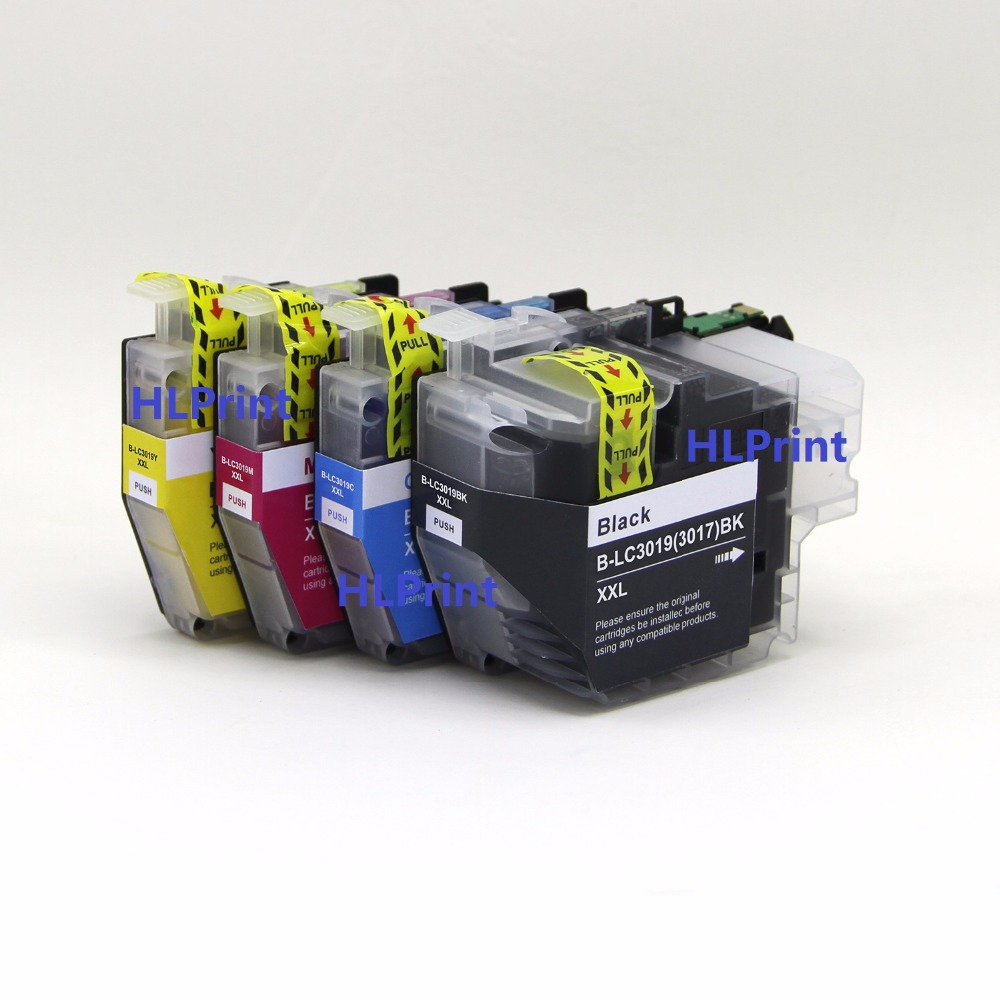 Pigment ink 4pcs Compatible ink cartridge Brother LC3019 3017 LC3019XXL for MFC-J5330DW   MFC-J6530DW  MFC-J6730DW  MFC-J6930DW free shipping for brother lc985 ink cartridge for brother mfc 415w ink jet printer