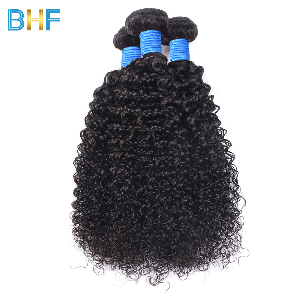 Afro Kinky Curly Hair Brazilian Hair Weave Bundles BHF Brazilian Kinky Curly Human Hair 3 Bundles Deals Virgin Hair Extensions