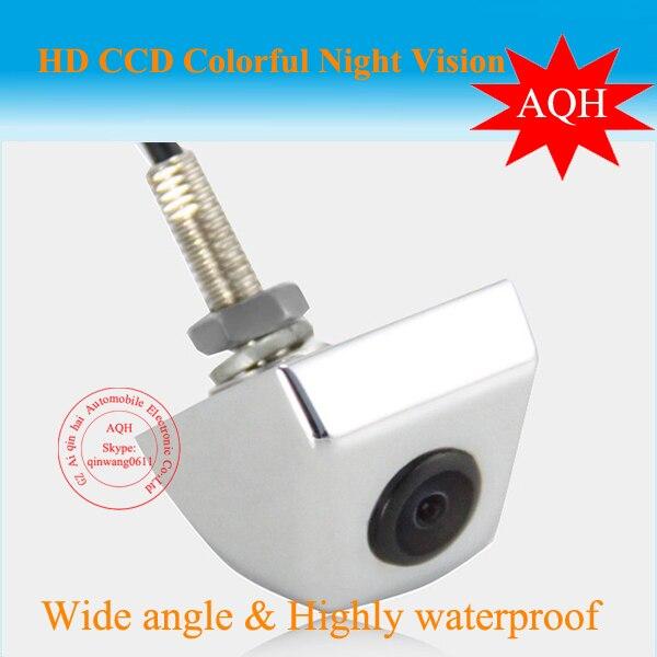 Livraison gratuite universel Blanc Voiture CCD 1/3 Caméra de marche arrière et caméra de recul couvercle en métal inoxydable étanche parking caméra