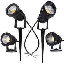 Светодиодный COB садовый светильник ing 3 Вт 5 Вт 10 Вт уличная, с шипами лужайка лампа водонепроницаемый светильник ing светодиодный светильник садовый путь Точечный светильник s AC110V 220V DC12V