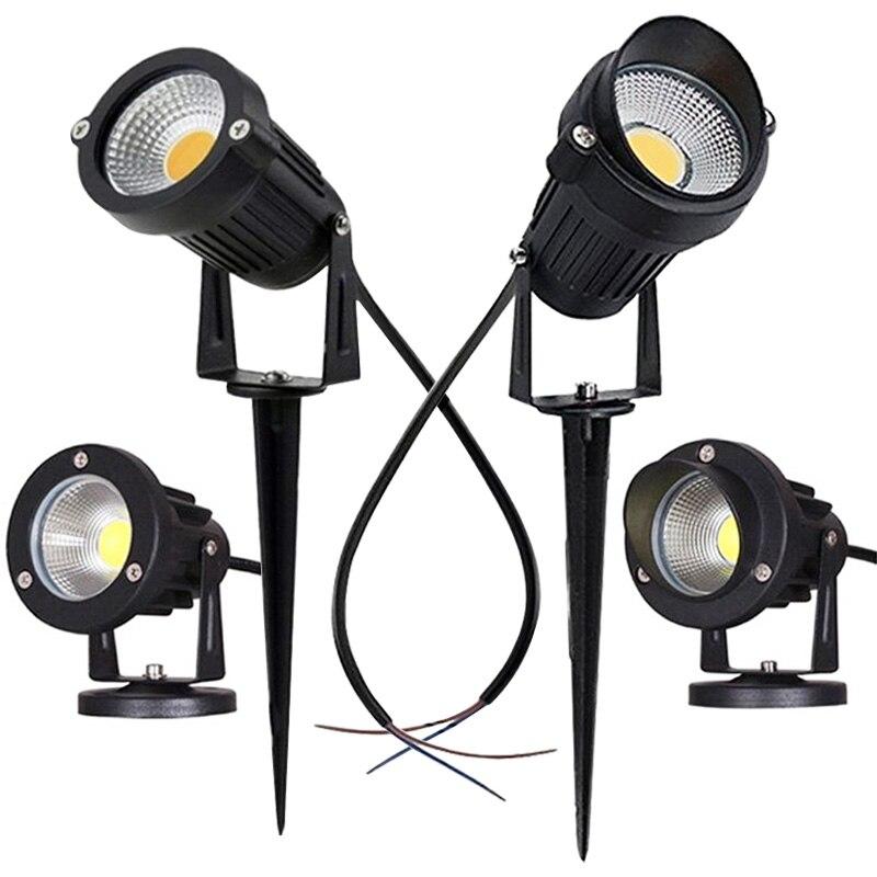 LED COB مصباح إضاءة حديقة 3 واط 5 واط 10 واط في الهواء الطلق سبايك مصباح حديقة مقاوم للماء مصباح إضاءة LED خفيف حديقة مسار الأضواء AC110V 220 فولت DC12V
