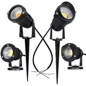 LED COB Garden lighting 3W 5W 10W Outdoor Spike Lawn Lamp Waterproof Lighting Led Light Garden Path Spotlights AC110V 220V DC12V(China)