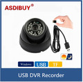CCTV USB DVR Recorder Night Vision Mini Dome Camera Motion Detection DVR Recorder Security Camera USB Support  Micro SD Card
