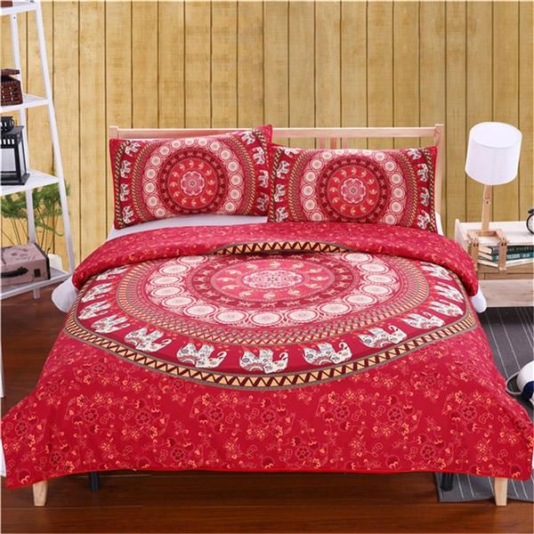 Mandala Bedding Posture Million Romantic Soft Bedclothes Plain Twill