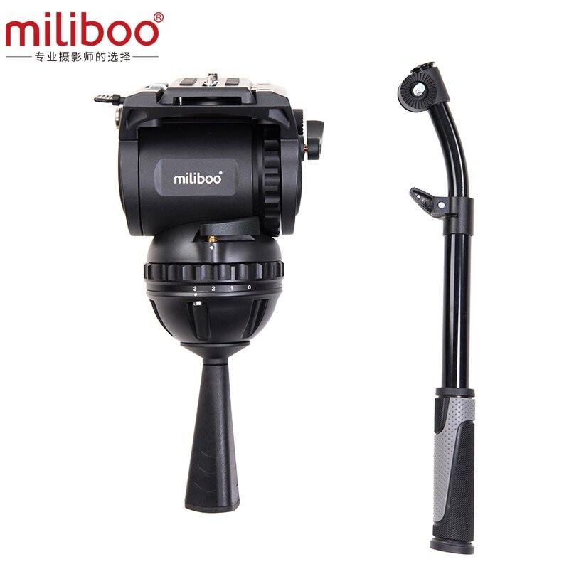 Miliboo M8 Professionale Broadcast Video di Film Fluido Teste di Carico 15 kg Heavy Duty Treppiede Della Macchina Fotografica con 100mm Ciotola