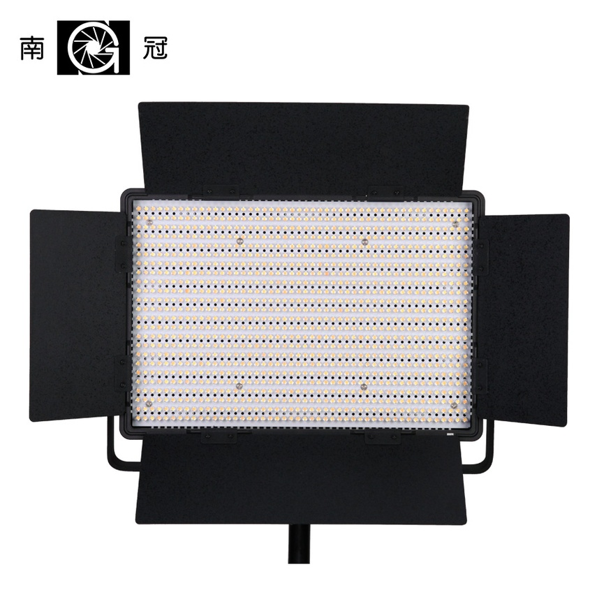 Nanguang CN-1200CSA LEDS 3200K to 5600K 7750 Lux LED Video Studio Light Panel with V Lock Battery Mount Extreme CRI RA 95 Bi col