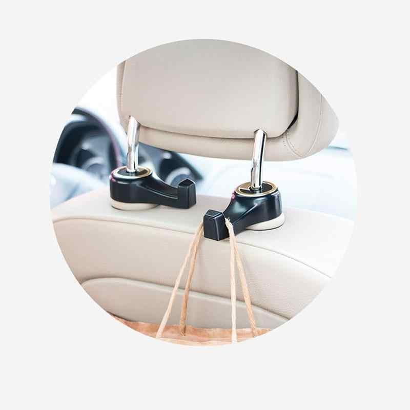 2 PCsCar Hooks Universal รถกลับที่นั่งพนักพิงศีรษะ Hanger Hook ทั่วไปใช้ผลิตภัณฑ์น้ำหนักแบริ่ง 10 กก. r30